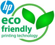 eco friendly printer and logo hp